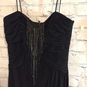 Kay Unger beaded black sheer dress Sz 6